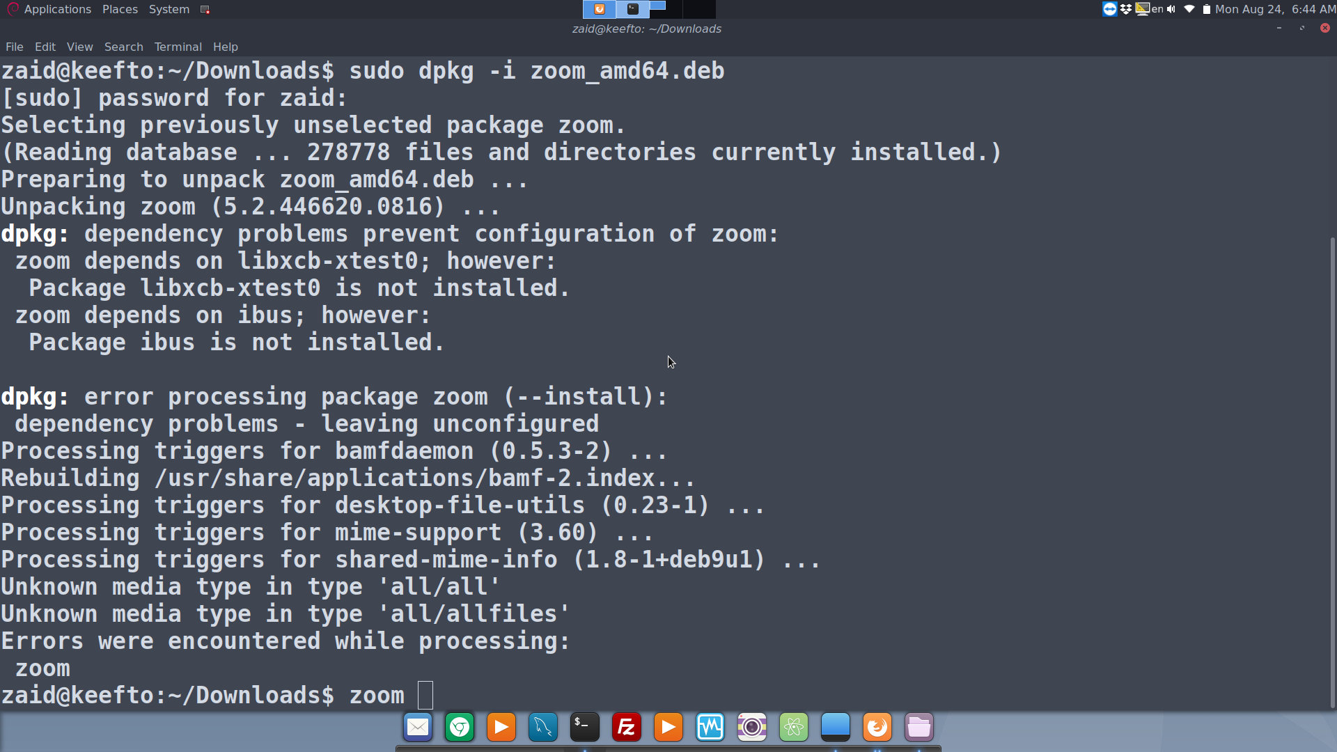 How to download and install Zoom Video Caller on your linux? #keefto