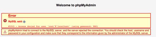 How to Solve Error #1045 in phpMyAdmin