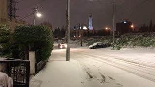 Snow fallwing on Amman 2021 #keefto