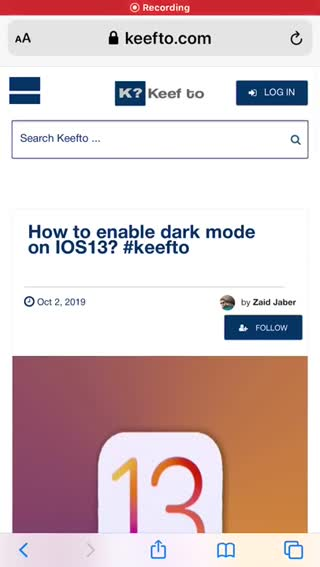 How to enable dark mode on IOS 13_ #keefto